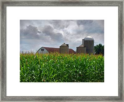 Farm Landscape Framed Print by Ms Judi