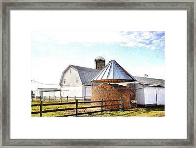 Farm Life Framed Print by Todd Hostetter