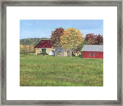 Farm On Ridge Road Framed Print by Margie Perry