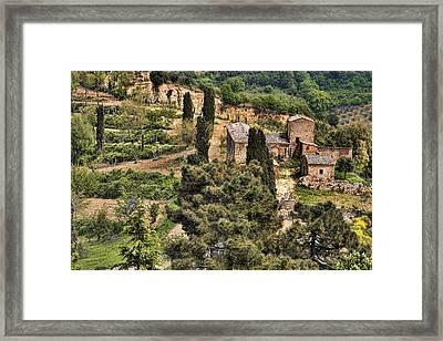 Framed Print featuring the photograph Farm Orvieto Italy by Hugh Smith