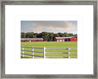Farm Pasture Framed Print by Brian Wallace