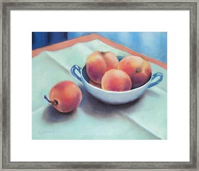 Farm Peaches Framed Print by Judy Albright