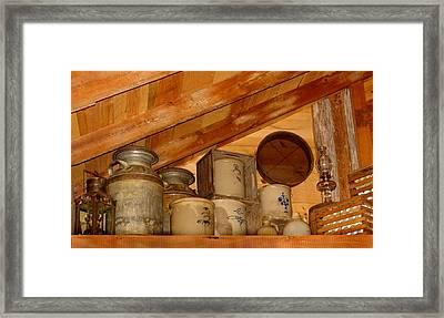 Farm Primitives Framed Print by Carmen Del Valle