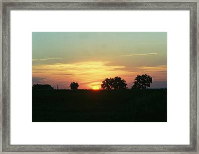 Farm Sunup Framed Print by Trent Mallett