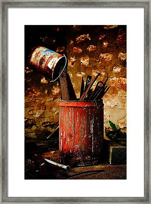 Farm Yard Bucket Framed Print