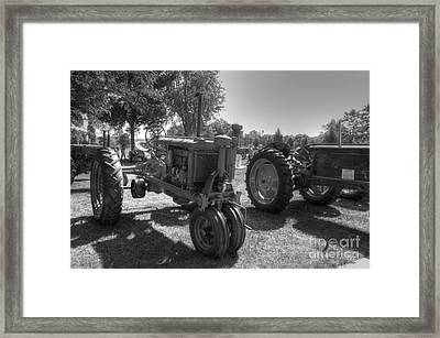 Farmall And Oliver In B-w Framed Print by David Bearden