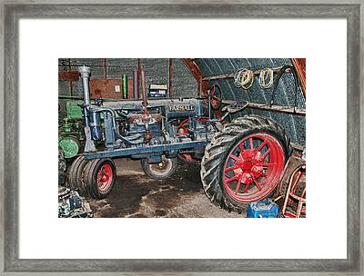 Farmall In Hdr Framed Print by Guy Whiteley