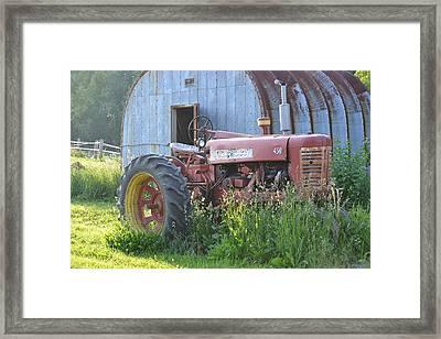 Farmall Framed Print by Rachel Nuest
