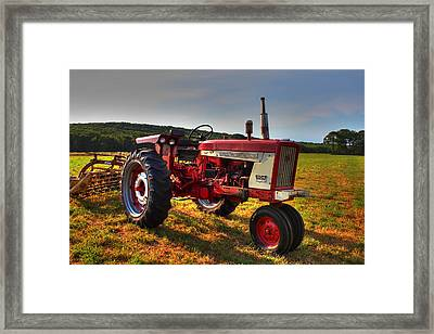 Farmall Tractor In The Sunlight Framed Print by Andrew Pacheco