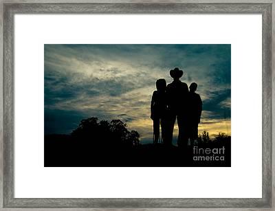 Farmer Family Framed Print by Andre Babiak