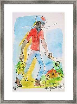 Farmer Framed Print by Carey Chen