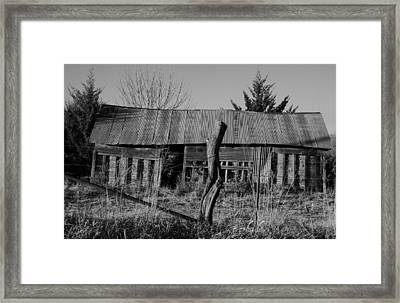 Farmers Building Framed Print by Chris Berry