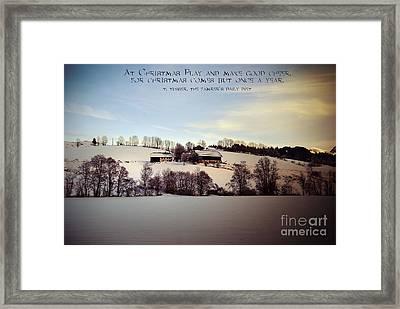 Farmer's Christmas Framed Print by Sabine Jacobs