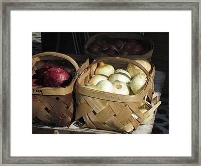 Framed Print featuring the photograph Farmer's Market by Lou Belcher