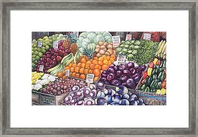 Farmers Market Framed Print by Nancy Pahl