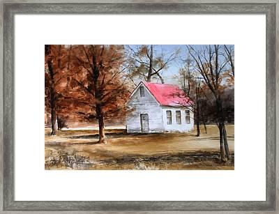 Farmers Ridge School Framed Print by Don Cull