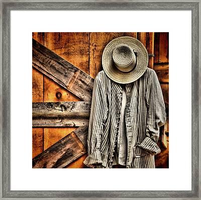 Farmer's Wear Framed Print by Pat Abbott