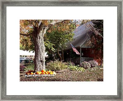 Farmhouse Cafe Framed Print by Judith Lawhon