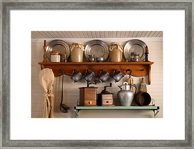 Farmhouse Collectables Framed Print by Carmen Del Valle