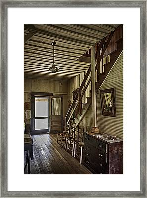 Farmhouse Entry Hall And Stairs Framed Print