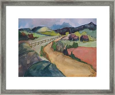 Farmland Road Framed Print