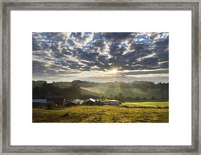 Farmlands Of Appalachia Framed Print by Debra and Dave Vanderlaan