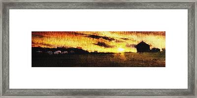 Framed Print featuring the digital art Farmville by Andrea Barbieri