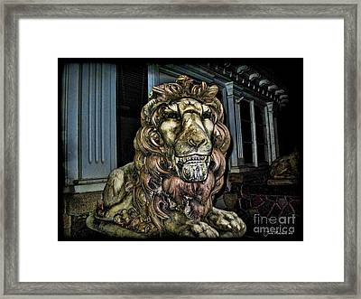 Farnam Manor Haunt Framed Print by Joan  Minchak