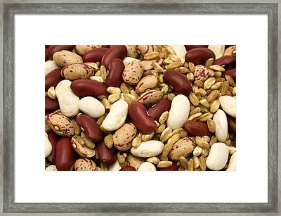 Farro And Beans Framed Print