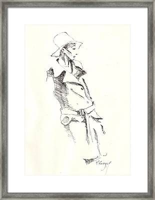 Fashion 1965 One Framed Print by R  Allen Swezey