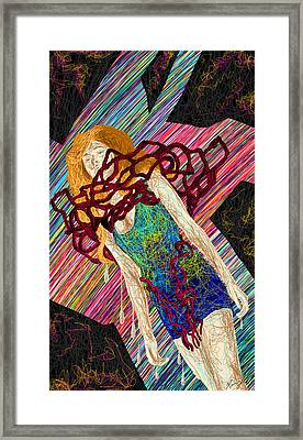 Fashion Abstraction De Dan Richters Framed Print by Kenal Louis