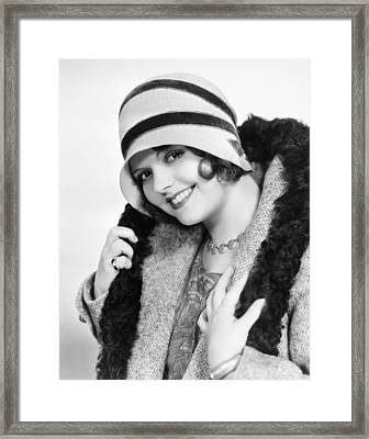 Fashion: Cloche Hat, 1929 Framed Print by Granger