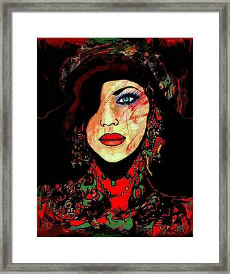 Fashion Girl Framed Print by Natalie Holland