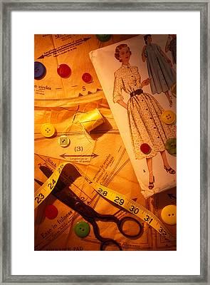 Fashion Old Dress Pattern Framed Print by Garry Gay