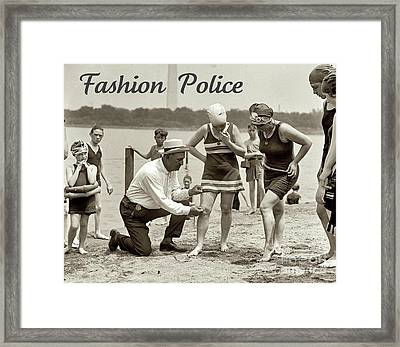 Fashion Police 1922 Framed Print
