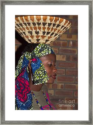 Fashion Show Girl Framed Print