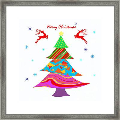 Fashion X'mas Framed Print by Atiketta Sangasaeng