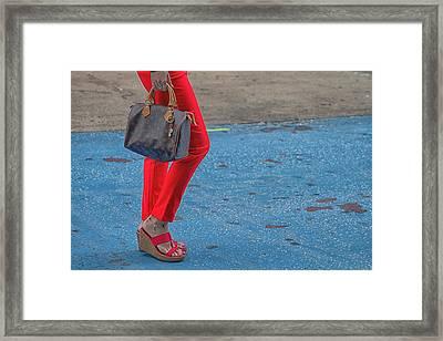 Fashionably Red Framed Print by Karol Livote