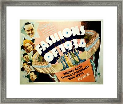 Fashions Of 1934, Top To Bottom Framed Print by Everett