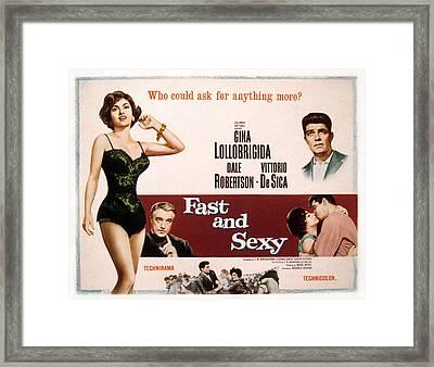Fast And Sexy, Aka Anna Di Brooklyn Framed Print by Everett