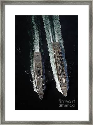 Fast Combat Logistic Support Ship Usns Framed Print