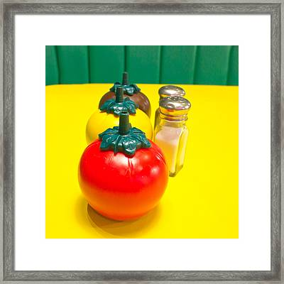 Fast Food Condiments Framed Print