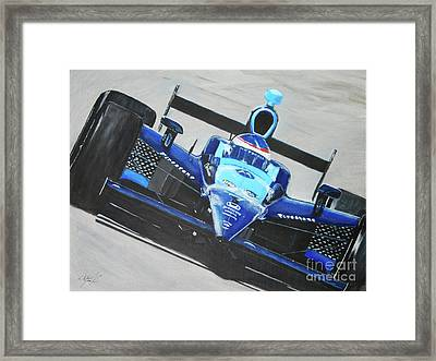 Fast Girl In Your Face Framed Print by William Homeier