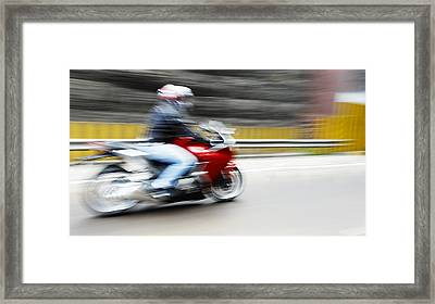 Fast Superbike India Framed Print by Kantilal Patel