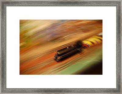 Fast Train Set Framed Print by Randy J Heath
