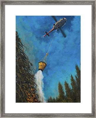 Fastbucket Drop Framed Print