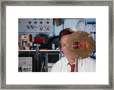Faster-than-light Experiment Framed Print by Volker Steger