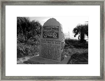 Fastest Man On Earth Framed Print