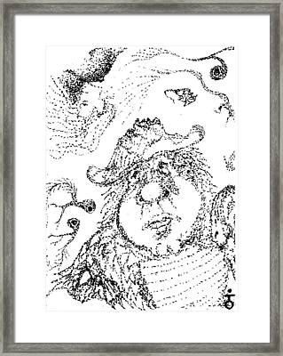 Fat Pirate Pokemon Eye Framed Print by Charles Kabrich