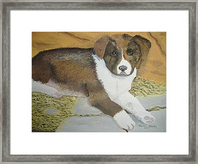 Framed Print featuring the painting Fat Puppy by Norm Starks